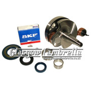 Vespa PX 200 Italian MEC / TAMENI CRANKSHAFT+SKF/FAG/INA BEARINGS +SEALS KIT