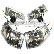 Vespa PX, T5 & LML 2T / 4T COMPLETE INDICATOR SET WITH LEXUS STYLE CLEAR LENSES