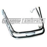 Vespa PX / LML CHROME TWIN FRONT MUDGUARD BUMPER / CRASH BAR