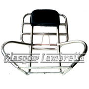 Vespa PX / LML Scooter POLISHED STAINLESS STEEL 3+1 BACKREST RACK & SIDE BARS