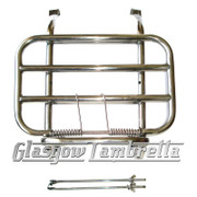 Vespa PX, T5, Rally etc / LML POLISHED STAINLESS STEEL FRONT RACK (Drilling required)
