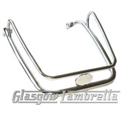 LML Scooter POLISHED STAINLESS STEEL FRONT MUDGUARD BUMPER