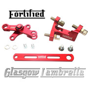 FORTIFIED Lambretta CUSTOM GEAR LINKAGE KIT DEEP RED CNC ALLOY