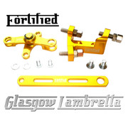 FORTIFIED Lambretta CUSTOM GEAR LINKAGE KIT GOLD CNC ALLOY