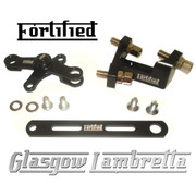 FORTIFIED Lambretta CUSTOM GEAR LINKAGE KIT BLACK CNC ALLOY