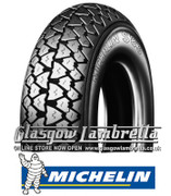 Set of 2 x Michelin S83 350 x 10 Tyres Fitted to S.I.P. Lambretta Tubeless Rims