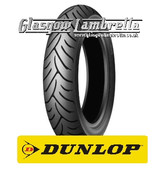 Set of 2 x Dunlop Scootsmart 350 x 10 Tyres Fitted to S.I.P. Lambretta Tubeless Rims