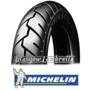 Set of 2 x Michelin S1 350 x 10 Tyres Fitted to S.I.P. Vespa Tubeless Rims