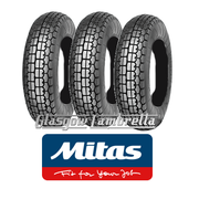Mitas B13 350 x 8 Set of 3 for Vespa Sportique, Super, VBB, Douglas