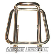 "Lambretta 60s AF STYLE POLISHED STAINLESS STEEL SHORT ""SPRINT"" REAR RACK"