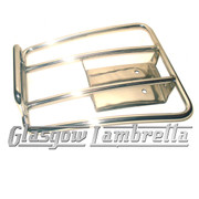 Vespa GT, GTS, GTV POLISHED STAINLESS STEEL REAR SPRINT RACK