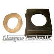 Lambretta Series 2 & 3 PETROL TANK DRIP TRAY + FELT Li /TV/SX/Special/GP