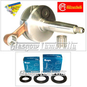 MAZZUCCHELLI Italian Lambretta GP/DL CRANKSHAFT 58/107mm + KOYO CRANK BEARINGS + SEALS KIT