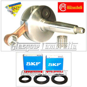 MAZZUCCHELLI Italian Lambretta GP/DL CRANKSHAFT 58/107mm + SKF/FAG CRANK BEARINGS + SEALS KIT