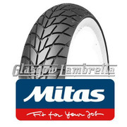 Set of 2 x  MC20 Whitewall 350 x 10 Tyres Fitted to S.I.P. Lambretta Tubeless Rims
