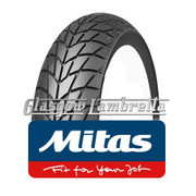Set of 2 x MC20 350 x 10 Tyres Fitted to S.I.P. Vespa Tubeless Rims
