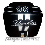 Vespa PX & LML  Repro/Copy GIULIARI YANKEE POLE POISTION SEAT in BLACK & WHITE