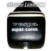 Vespa & LML  Repro/Copy GIULIARI SUPER CORSA SEAT in BLACK & WHITE