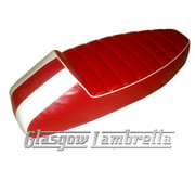 Vespa & LML ANCILLOTTI STYLE SLOPE BACK RACE SEAT  in RED & WHITE
