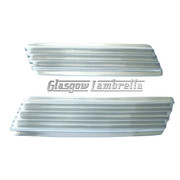 Lambretta GP HIGHLY POLISHED STAINLESS STEEL SIDE PANEL GRILL SET