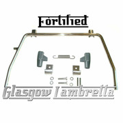 FORTIFIED Lambretta Series 3 POLISHED STAINLESS STEEL STAND + GREY FEET, SPRING, HOOKS
