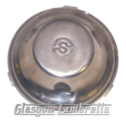 Lambretta POLISHED FLYWHEEL DUST COVER for Electronic 12V s3 GP/Li/SX/TV (SIL)