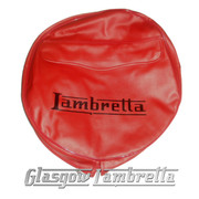 Lambretta RED VINYL SPARE WHEEL COVER with POCKET 350x10 Li/TV/SX/GP