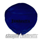 Lambretta DARK BLUE VINYL SPARE WHEEL COVER with POCKET 350x10 Li/TV/SX/GP