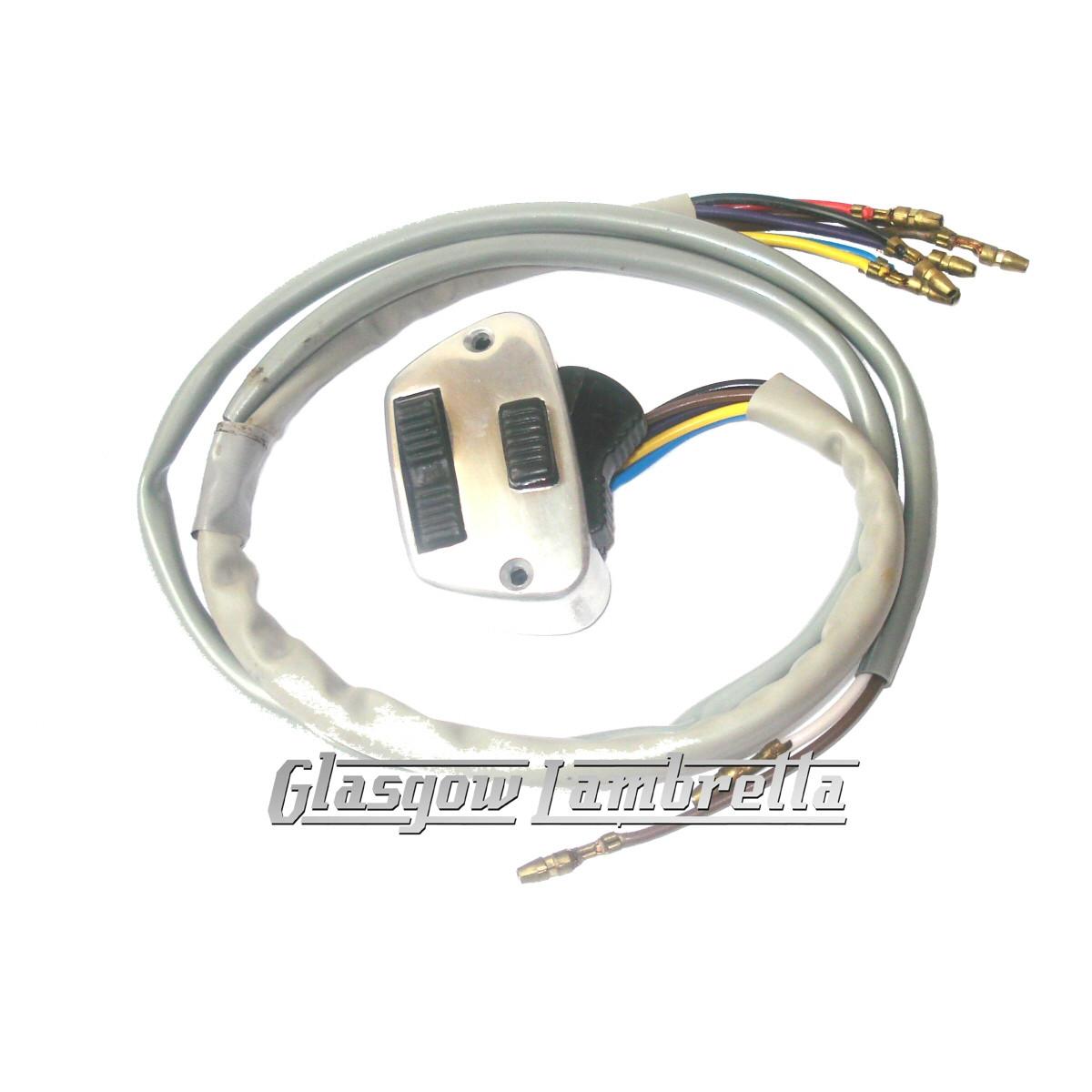Cool Lambretta Li Series 3 Polished Horn Light Switch Innocenti Spec Wiring Database Rimengelartorg
