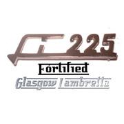 Lambretta s2 & s3 Li 225 CHROME LEGSHIELD BADGE by FORTIFIED (Original spec)