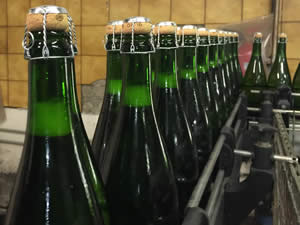With a new cork, the bottle moves towards final stage