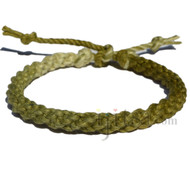 Ultra Soft Olive Rainbow hemp Round Woven bracelet or anklet