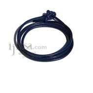 3mm Blue leather adjustable surf wrap bracelet