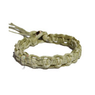 Olive Rainbow Interlocked Hemp Surfer Bracelet