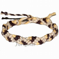 Natural, dark brown and dijon hemp Snake bracelet or anklet