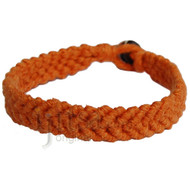 Pumpkin hemp Feather bracelet or anklet