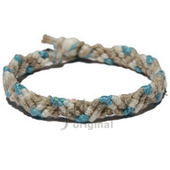 Natural, white and gin hemp Snake bracelet or anklet