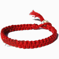 Red Hemp Surfer Bracelet or Anklet