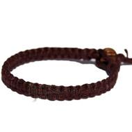 Dark brown flat hemp surfer bracelet or anklet