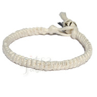 White hemp Caterpillar bracelet or anklet