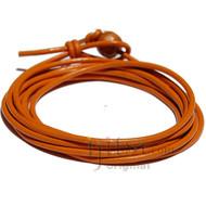 2mm marigold leather adjustable wrap bracelet
