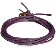 2mm adjustable Purple leather wrap bracelet