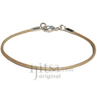 2mm pearl leather bracelet or anklet, metal clasp