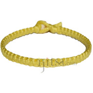 Lemon flat cotton bracelet or anklet