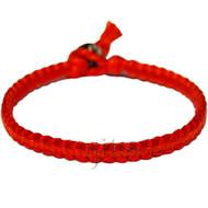 Red and indies orange flat cotton bracelet or anklet