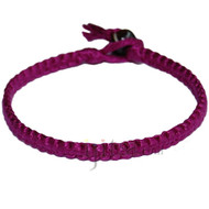 Magenta flat cotton bracelet or anklet
