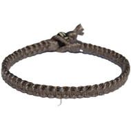 Charcoal flat cotton bracelet or anklet