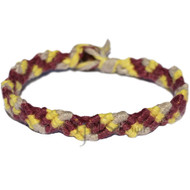 Bordo, lemon and natural hemp Snake bracelet or anklet