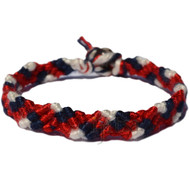 Red hot, Navy blue and Snow white Snake Bamboo Bracelet or Anklet