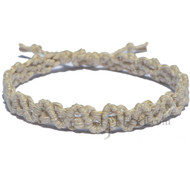 Natural hemp lace bracelet or anklet
